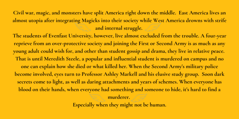 Civil war, magic, and monsters have split America right down the middle. East America lives an almost utopia after integrating Magicks into their society while West America drowns with strife and internal struggle.